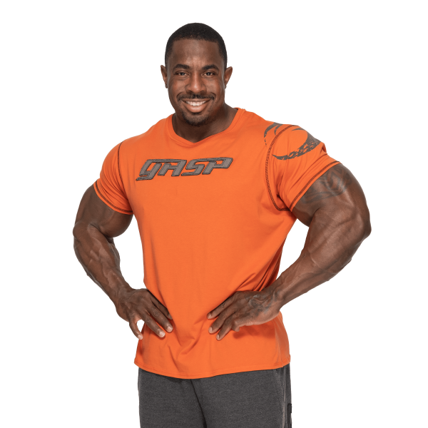 Gasp Tee Sort T skjorte Extreme Fitness AS