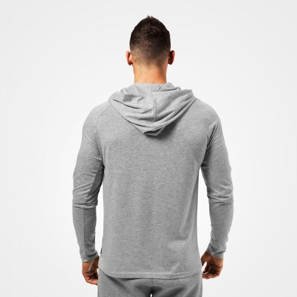 96d0a9e0 Better Bodies Astor ls Hoodie - Greymelange - Extreme Fitness AS
