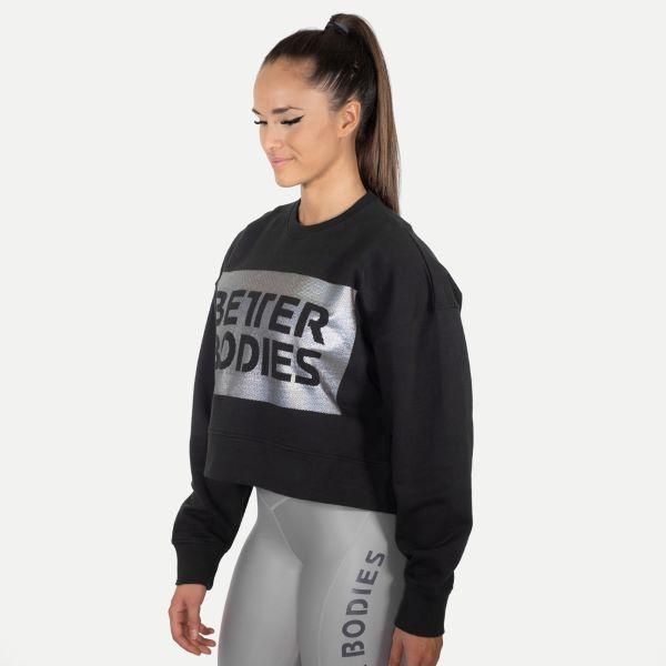 Better Bodies Chelsea sweater SortSølv genser Extreme
