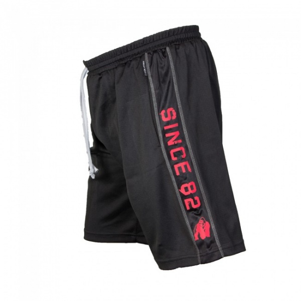 586ef044 Gorilla Wear Functional Mesh Shorts - Black/Red - Extreme Fitness AS