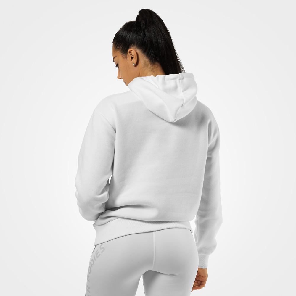 471b3b76 Better Bodies Chrystie Hoodie White- Hettegenser - Extreme Fitness AS