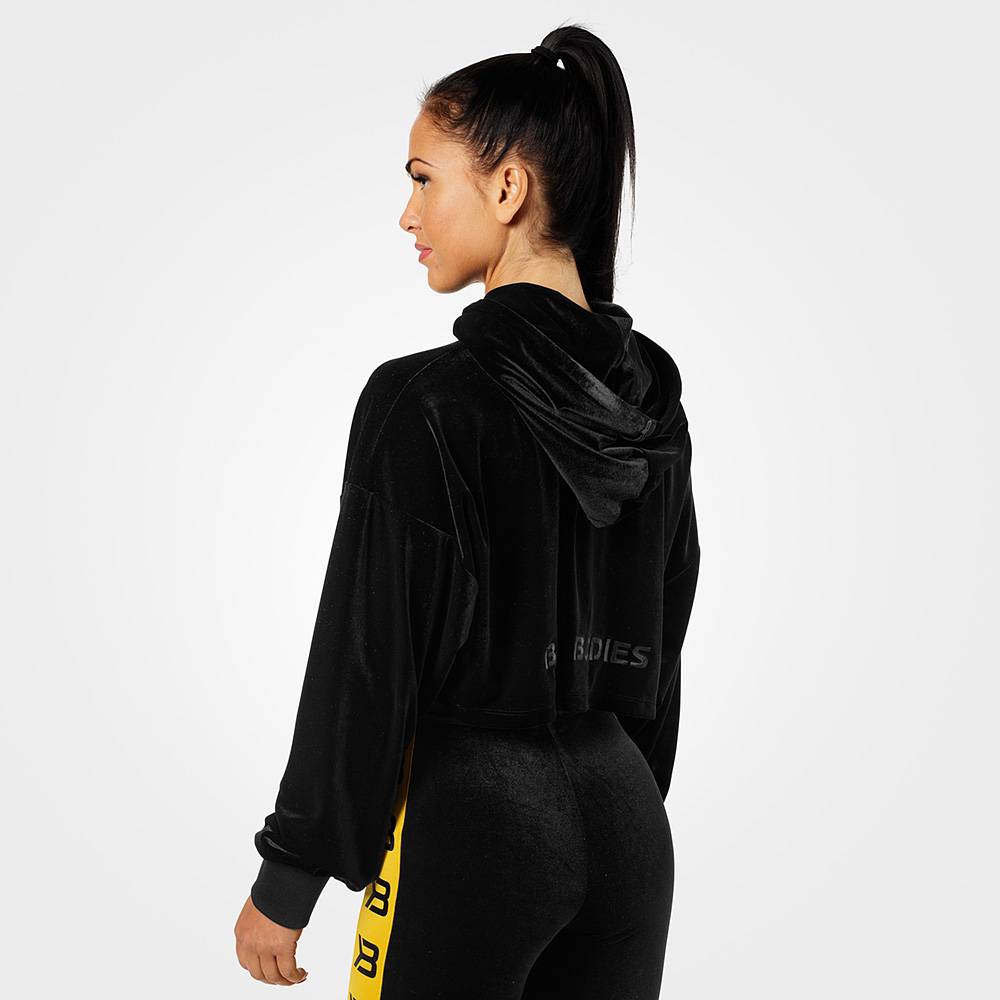 Better Bodies Women Chrystie Crop Hoodie Black Genser