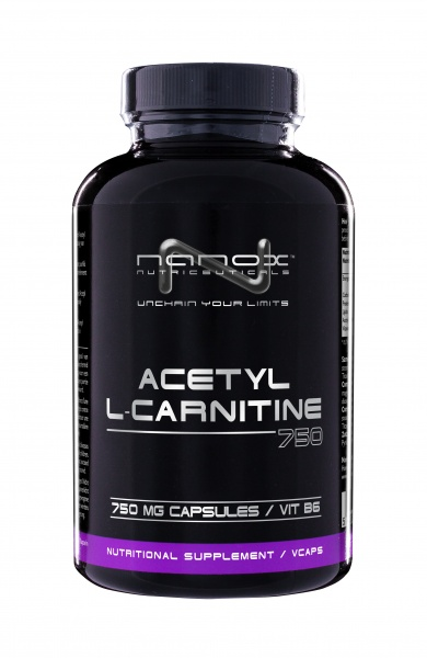 Kendte Nanox Acetyl L-Carnitine 750 mg - 90 kapsler - Extreme Fitness AS RY-38