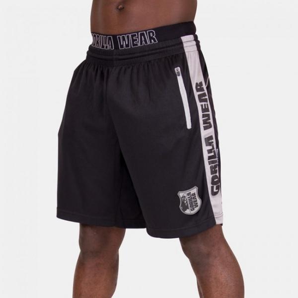 d76632f1 Gorilla Wear Shelby Shorts Black/Grey - Treningsshorts - Extreme ...