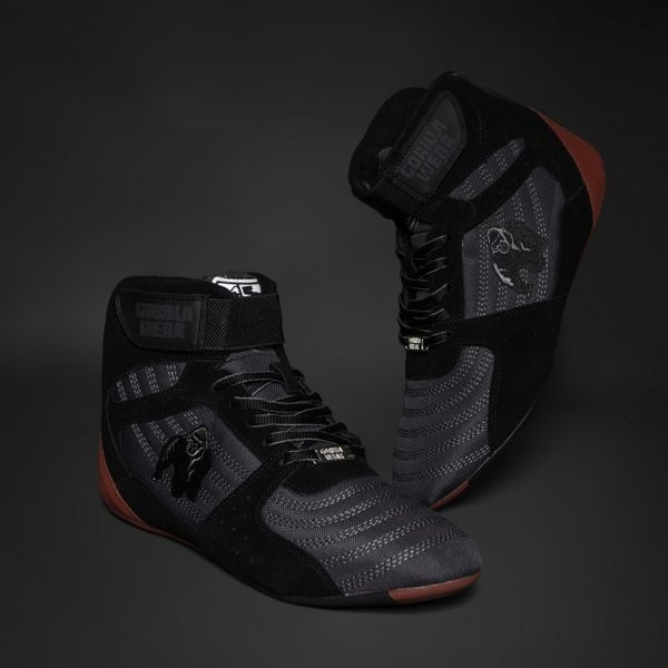 Gorilla Wear Perry High Tops GreyBlackRed Extreme